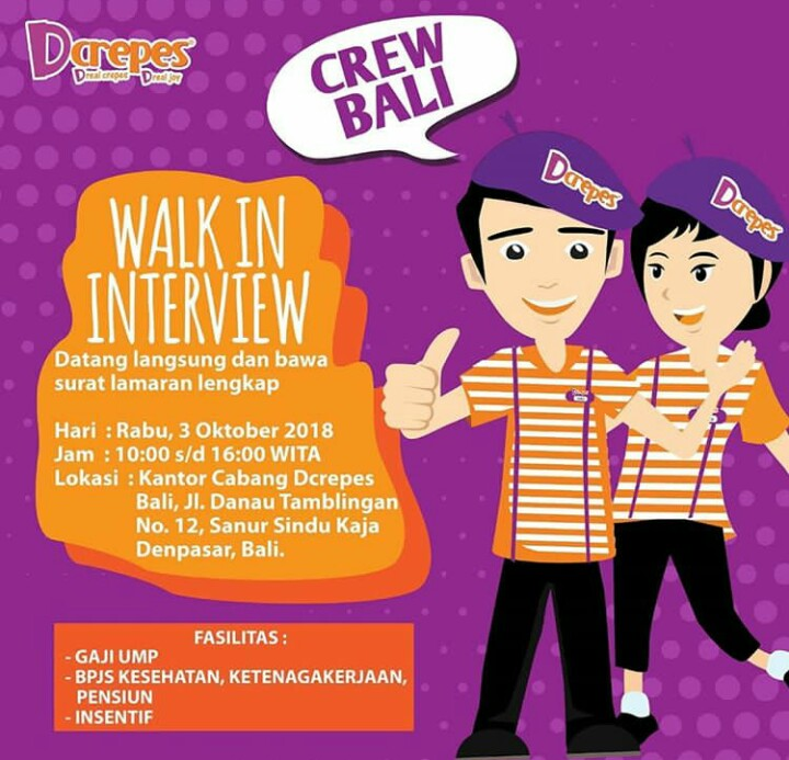 Walk In Interview Dcrepes Bali - Dibacaonline