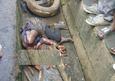 Female Kidnapper Lynched In Ojubode, Ikorodu Today (Graphic Photo)