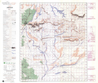 ARFOUD 1984 Morocco 50000 (50k) Topographic map free download
