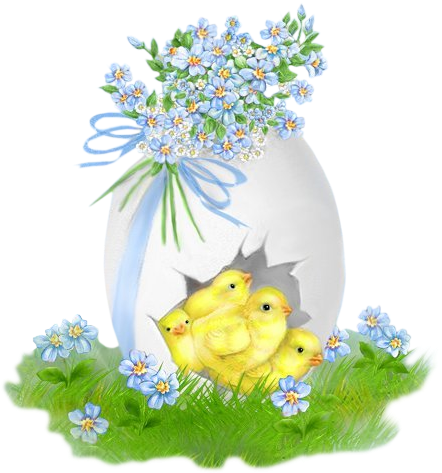 conejo con huevo de pascua  e