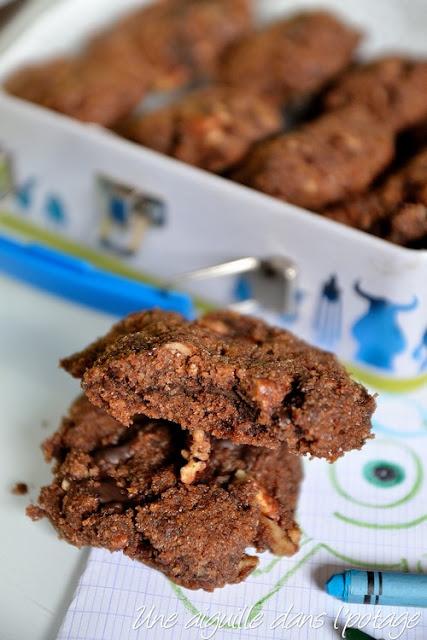 Cookies (au pain rassi) chocolat-noix de pécan