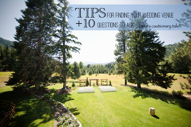10 tips for finding your wedding venue