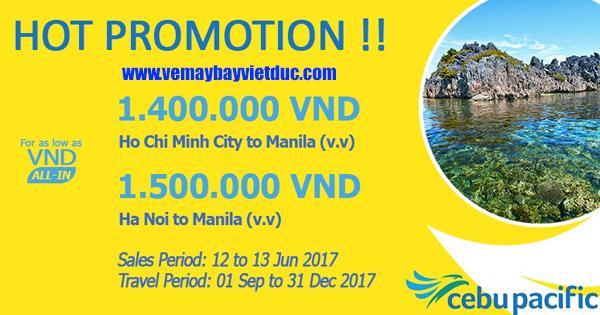 đặt vé khuyến mãi Cebu Pacific bay từ Việt Nam đi Manila