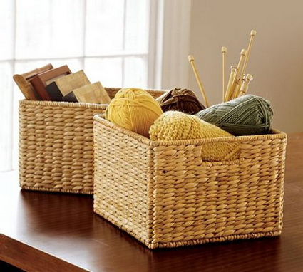 Ideas for decorating with wicker baskets 7