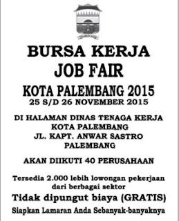 Bursa Kerja Job Fair Kota Palembang 2015