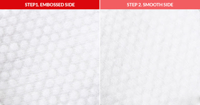 CosRX One Step Pimple Clear Pad embossed side