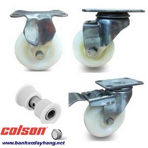 Bánh xe đẩy tải trọng 100kg đến 136kg nhựa PA càng inox Colson www.banhxedayhang.net
