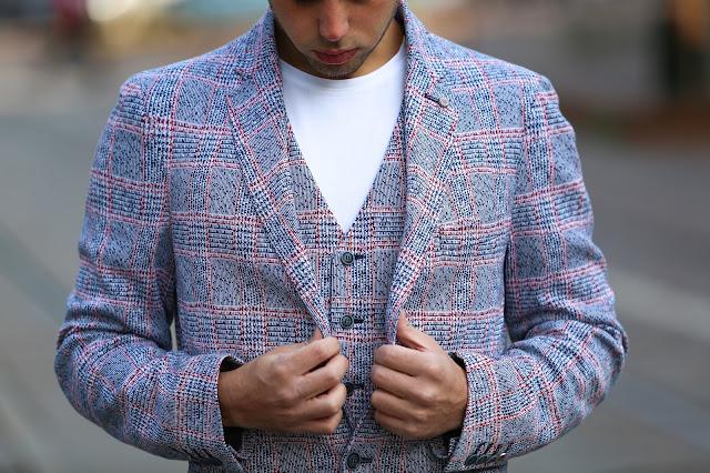 massimo rebecchi giacca e gilet principe di galles