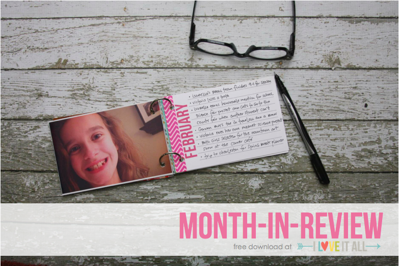 Month-In-Review Mini Album Download | iloveitallwithmonikawright.com