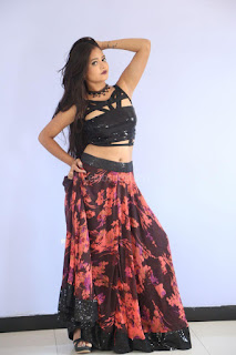 Shriya Vyas in a Tight Backless Sleeveless Crop top and Skirt 81.JPG