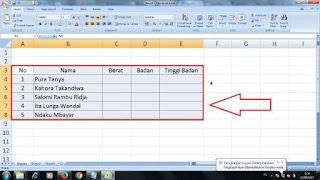 cara membuat tabel dalam blospot menggunakan exel