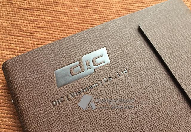 sổ da ép logo