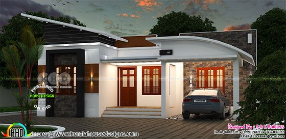 Low cost contemporary home in kerala kerala home design Low cost modern homes