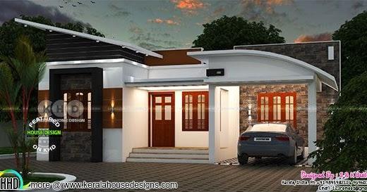 Low Cost Contemporary Home In Kerala Kerala Home Design