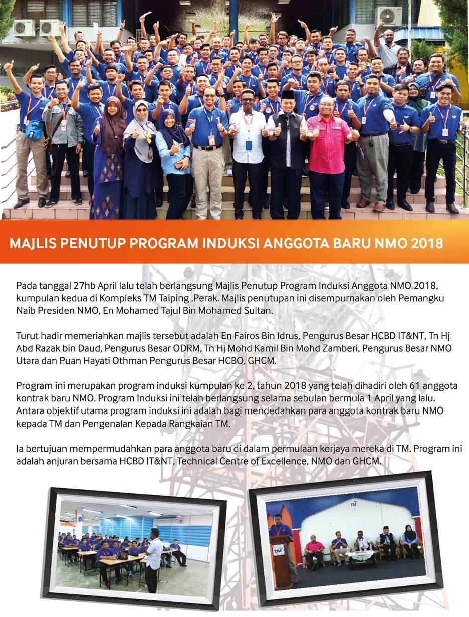 Majlis Penutup Program Induksi Anggota Baru NMO 2018