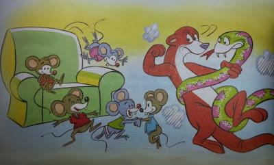 la serpiente comadreja y los ratones