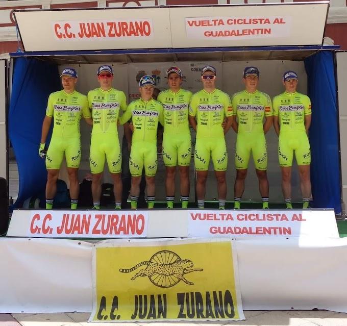 El Club Ciclista Rías Baixas despliega a su tridente en la Volta a Coruña