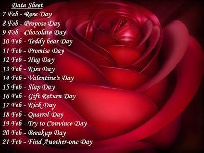 Valentine's Week list