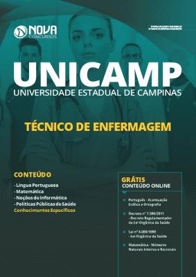 Apostila Concurso UNICAMP 2020 Técnico de Enfermagem Grátis Cursos Online