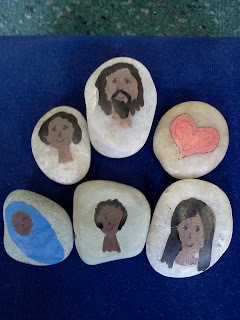 http://flamecreativekids.blogspot.co.uk/2012/04/jesus-welcomes-children-story-stones.html