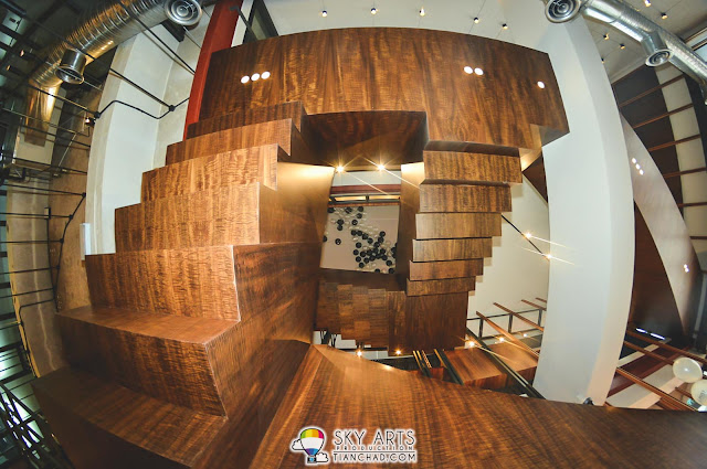 To go up or to go down? Impressive stairs at Le Pont Boulangerie et Café  *shoot from bottom*