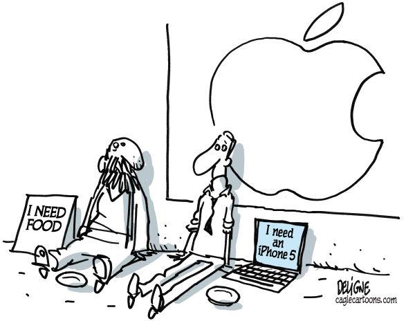 Les Tours de Laliberté: Caricature iPhone 5 et la crise