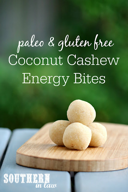 Easy Vegan Coconut Cashew Cookie Dough Bites Recipe - raw, vegan, gluten free, sugar free, healthy, paleo, grain free, energy bites, clean eating recipe