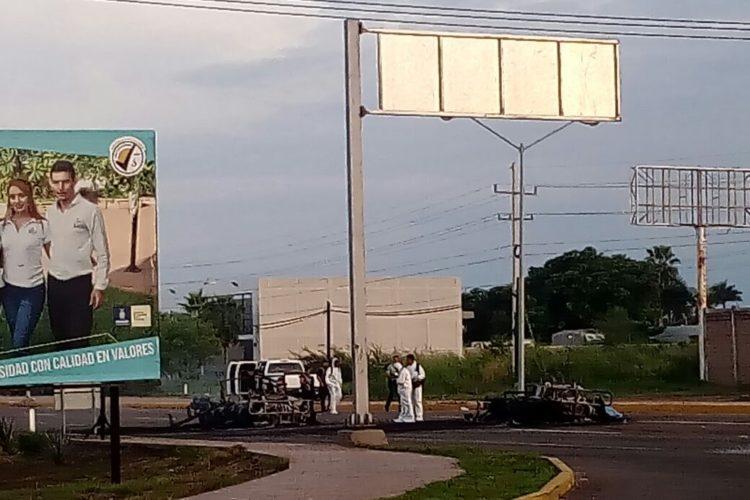 5 militares muertos y 2 vehículos castrenses incendiados, saldo de emboscada en Culiacán