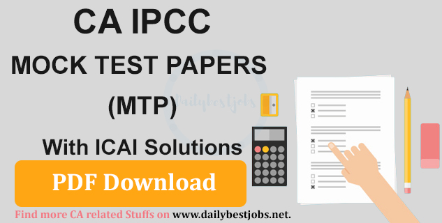CA IPCC Mock Test Papers With ICAI Solutions PDF Download