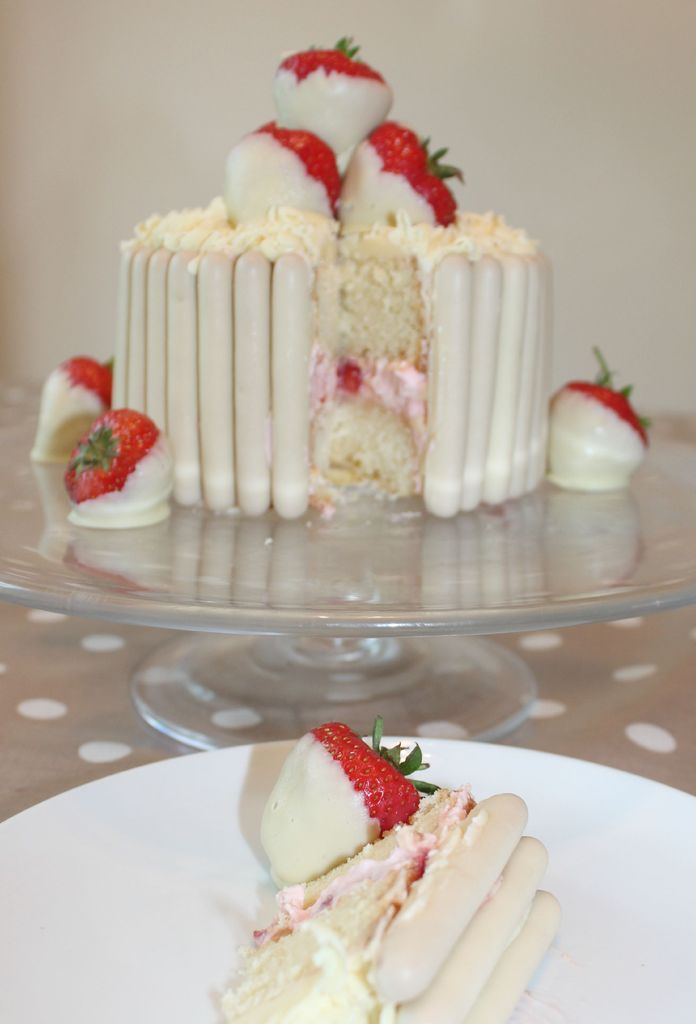 Chocolate Dipped Strawberries Cake Fingers Ribbon