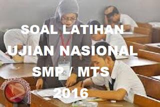 Soal dan kunci jawaban US UN SMP 2017