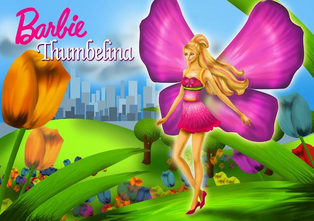 Mewarnai Gambar Barbie Thumbelina Mewarnai Gambar