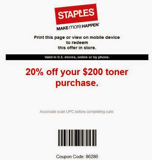 image about Staples Coupons Printable identified as Staples coupon printable december 2018 / Least complicated hire offers