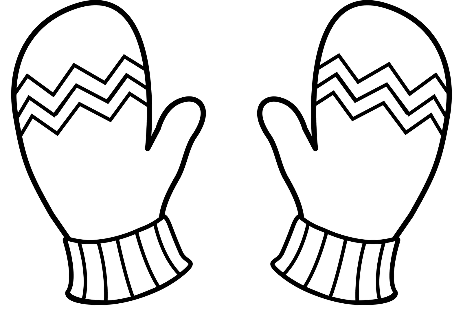 Christmas Gloves Coloring Pages