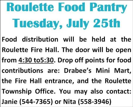7-25 Roulette Food Pantry