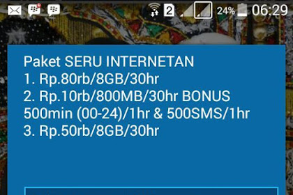 Promo Internet Telkomsel Seru Internetan 8GB 80Ribu