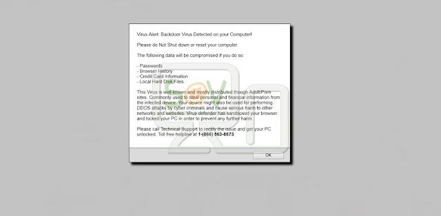 Virus Alert: Backdoor Virus Detected