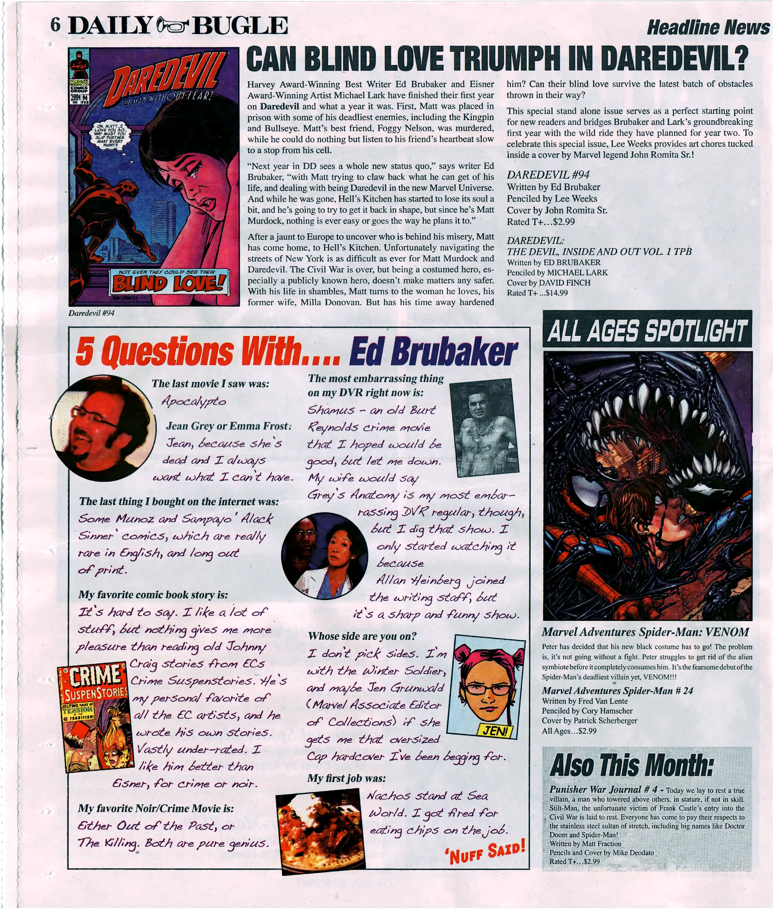 Read online Daily Bugle (2006) comic -  Issue #5 - 6