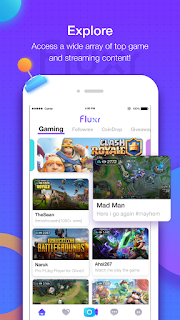 Livestream Platform for Mobile Games and eSports Games : Fluxr : Livestream Platform for Mobile Games and eSports