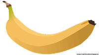banana clipart outline