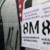Detienen a tres mujeres por pegar carteles de la huelga feminista del 8M