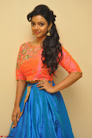 Nithya Shetty in Orange Choli at Kalamandir Foundation 7th anniversary Celebrations ~  Actress Galleries 011.JPG