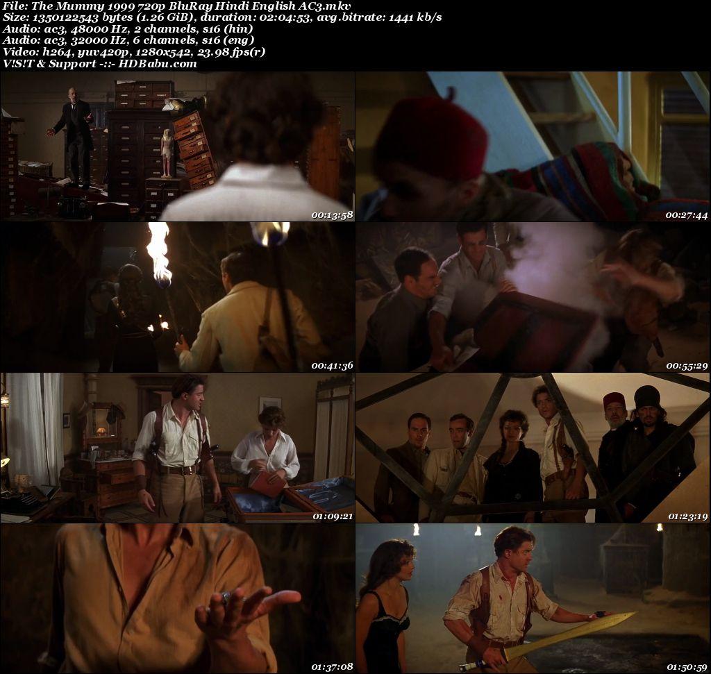 The Mummy 1999 720p BluRay Hindi English AC3 1.3 GB Screenshot