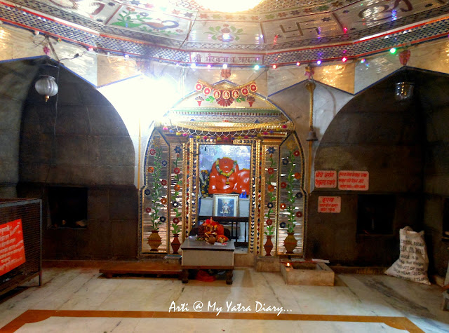The temple hall of Bhairavnath temple, Saswad, Pune, Maharashtra
