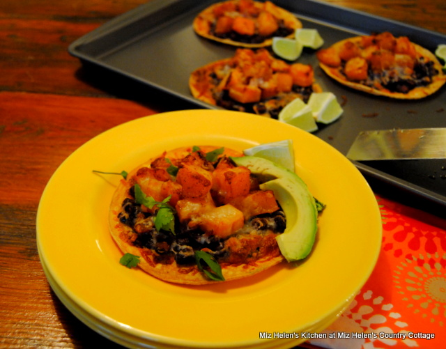 Black Bean-Butternut Tostada's