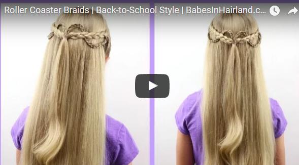 peinado con trenzas en cabello semi suelto