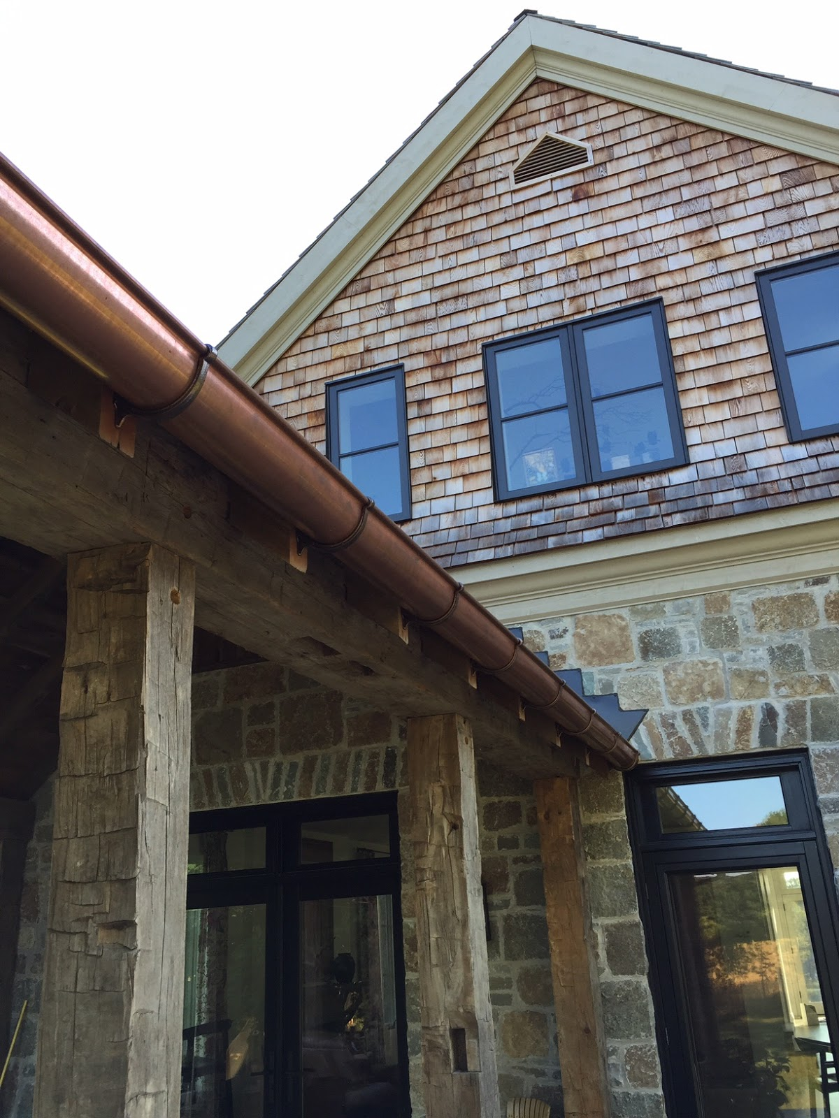 Building Walnut Farm Architectural Bling Copper Gutters