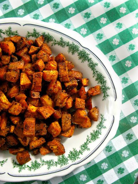 how to make roasted sweet potatoes crispy