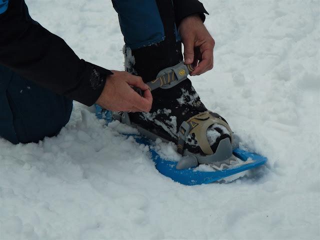 Снегоступы. Дорога на Хмелевские озера, зима, Сочи, Красная поляна 2016