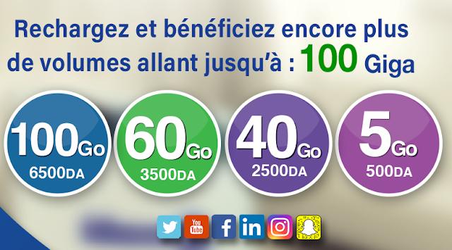 اتصالات الجزائر تزيد في حجم الإنترنت لمشتركي Idoom 4G LTE.. تصل إلى غاية 100 جيغا